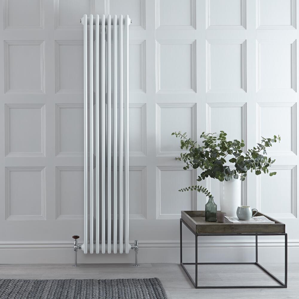 Windsor Designradiator Verticaal Klassiek Wit 180cm x 36cm x 13,3cm 2153 Watt