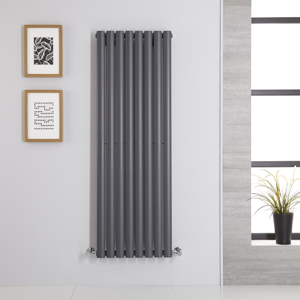 Revive Designradiator Verticaal Antraciet 140cm x 47,2cm x 5,6cm 915Watt