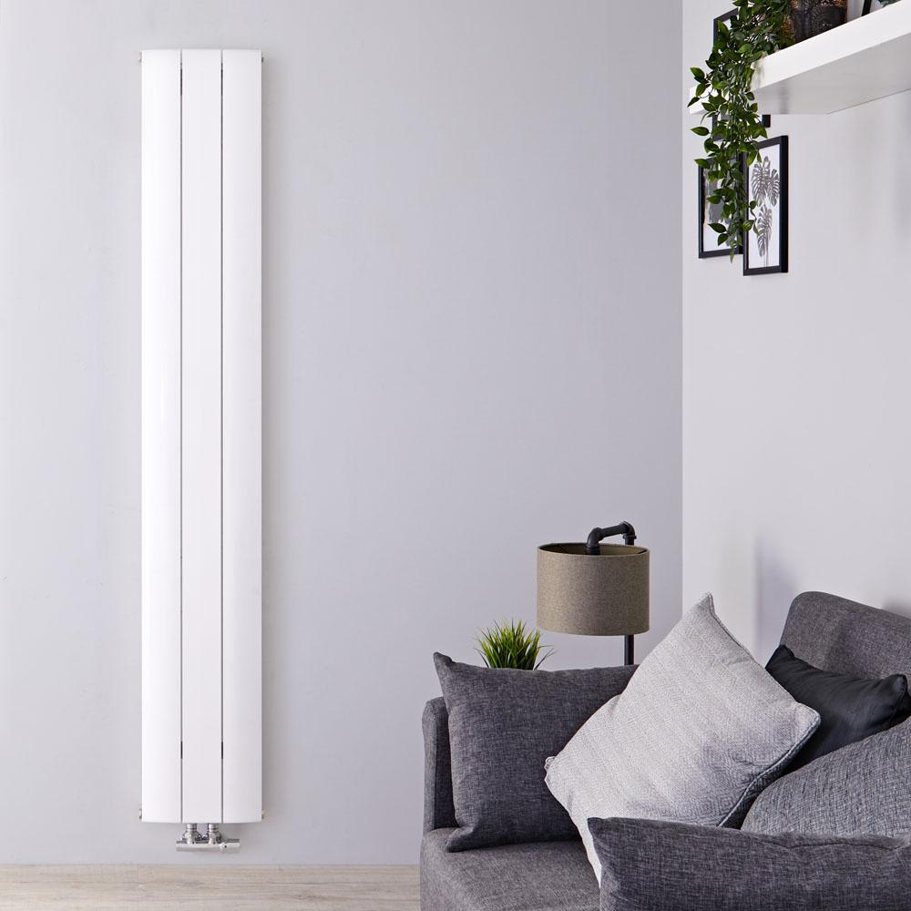 Aurora Designradiator Verticaal Middenaansluiting Aluminium Wit 160cm x 28cm x 4,5cm 1021 Watt