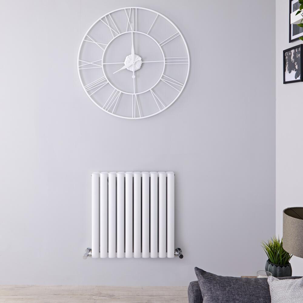 Revive Air Horizontale Aluminium Dubbelpaneel Designradiator Wit 60cm x 59cm x 7,6cm 1149Watt