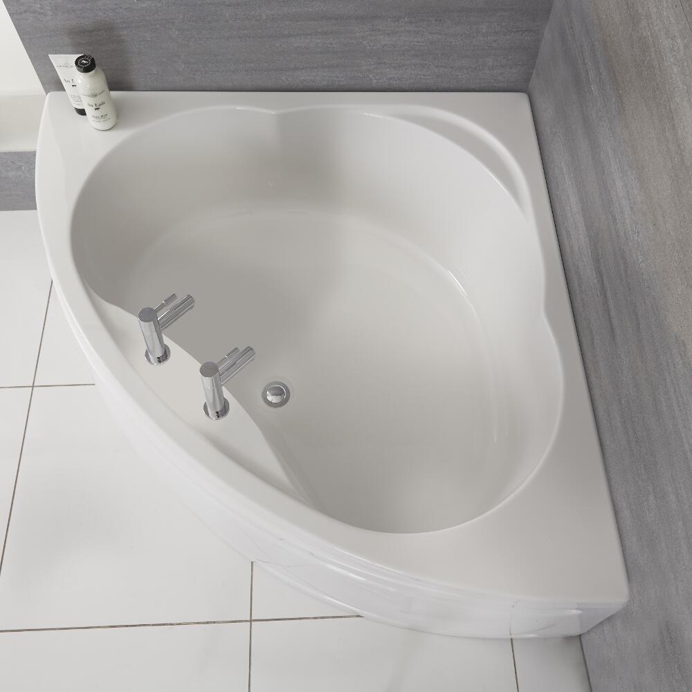 Kunststof Acryl Hoekbad inclusief Badpaneel 135cm x 135cm