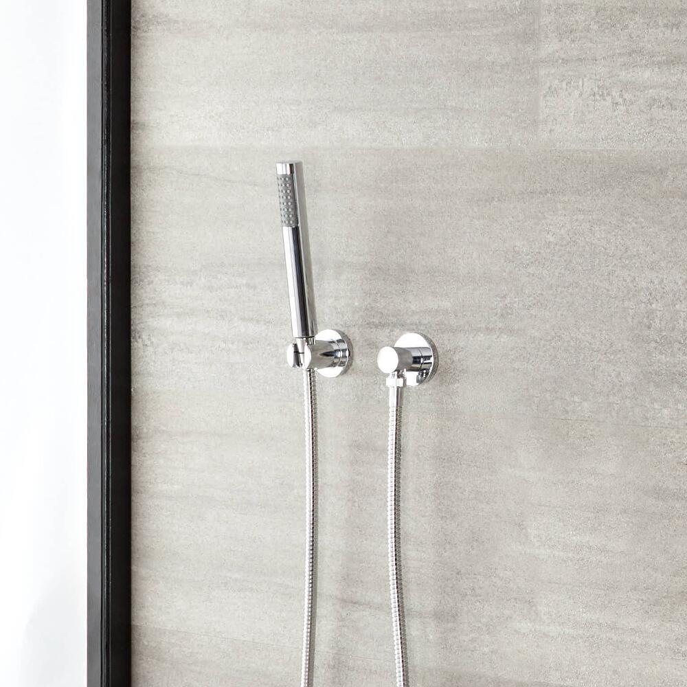 Handdouche & muurhouder combinatie - Rond