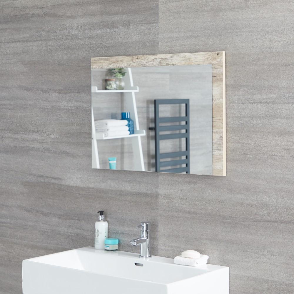 Badkamerspiegel Licht Eiken 50 x 70 cm - Hoxton