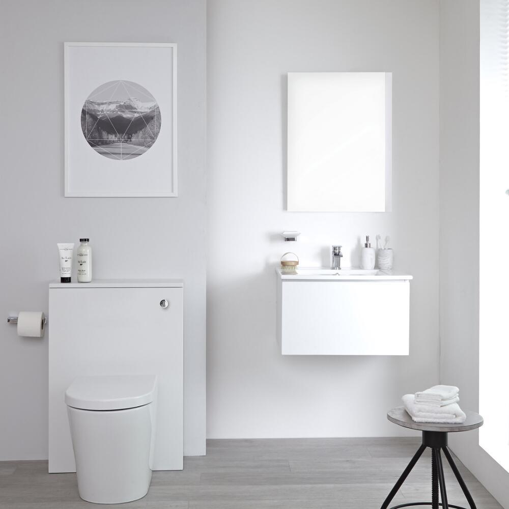 Newington Toilet Ombouw met Staand Toilet Incl Toilet Stortbak 3/6L  Mat Wit
