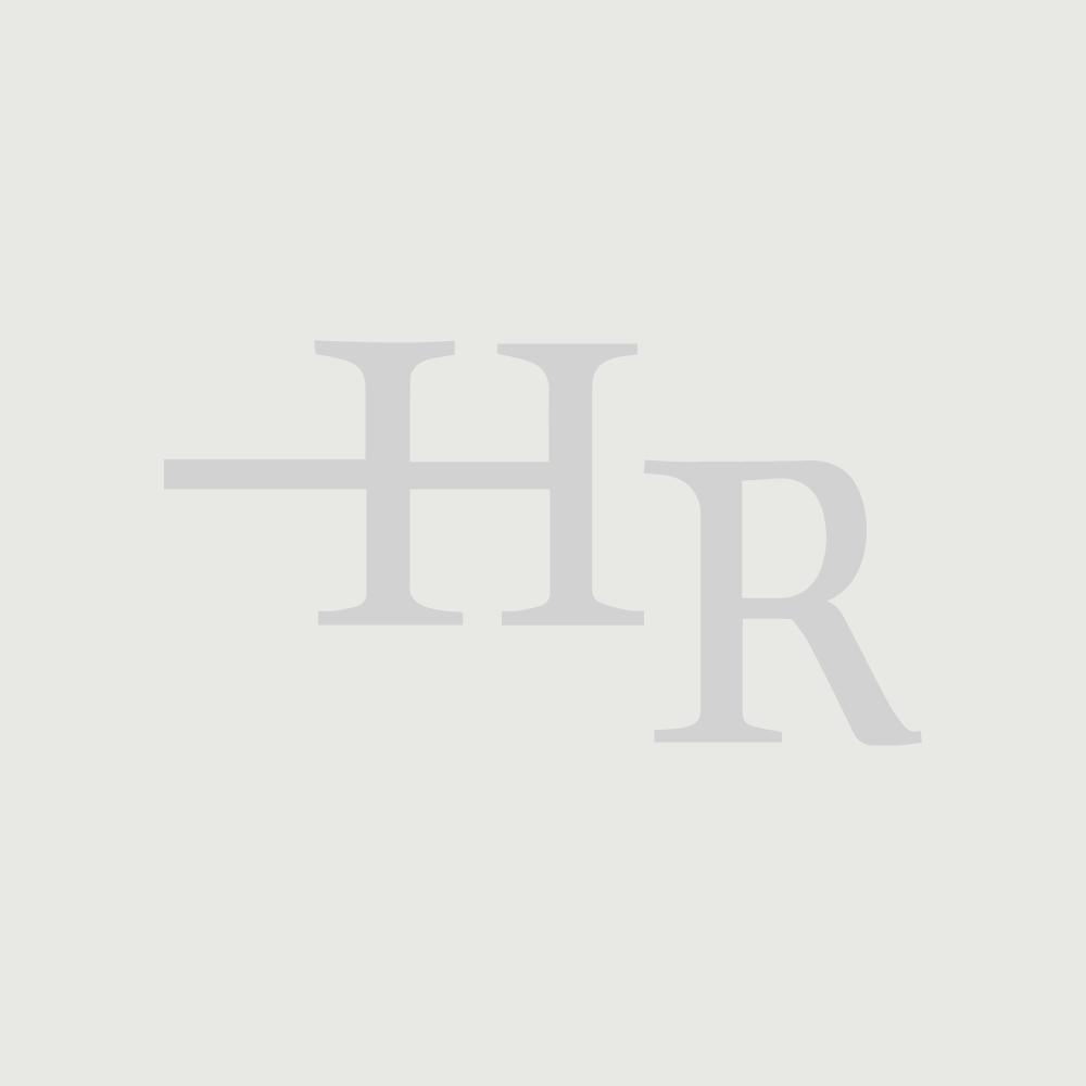 Newington Hangend 2-Persoons Wastafelmeubel Goud Eiken incl. Keramische Wasbak - 120 x 35cm