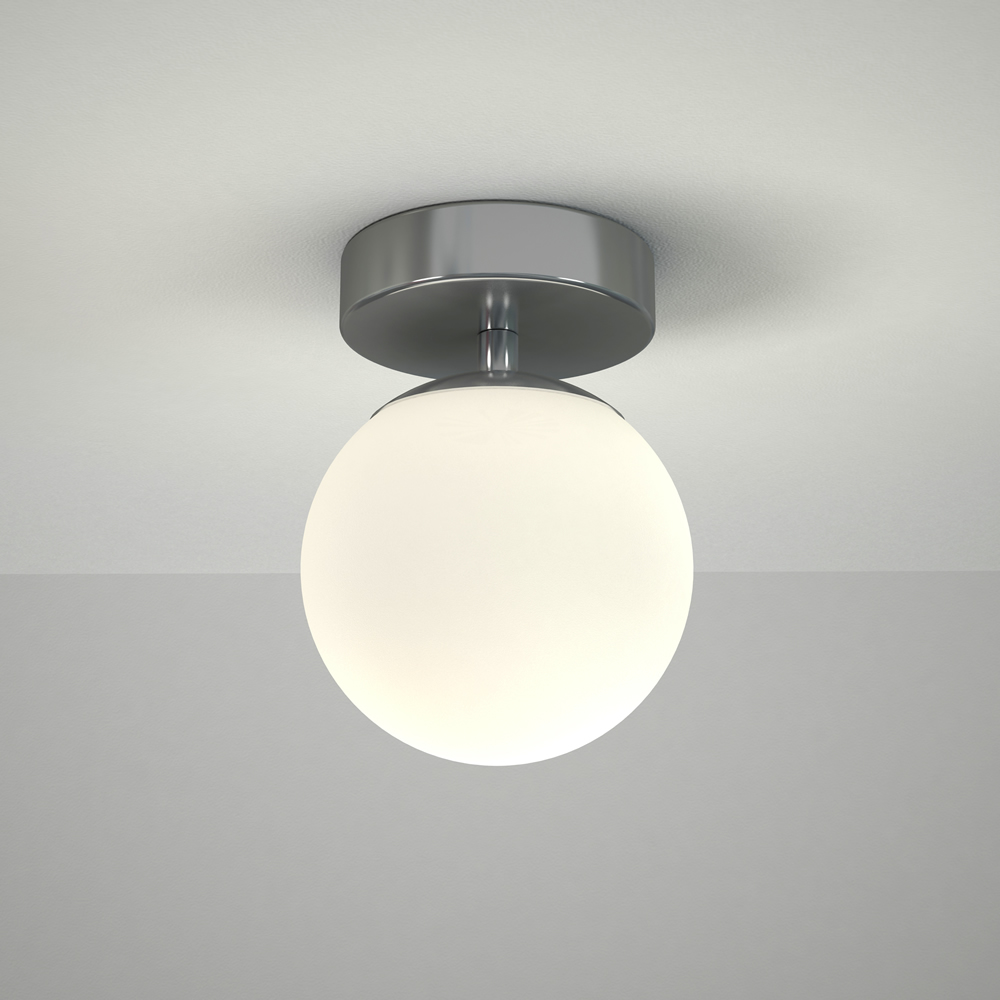 Lunzer LED Badkamer Plafondlamp d.12cm x 16,5cm  6W Chroom LED IP44
