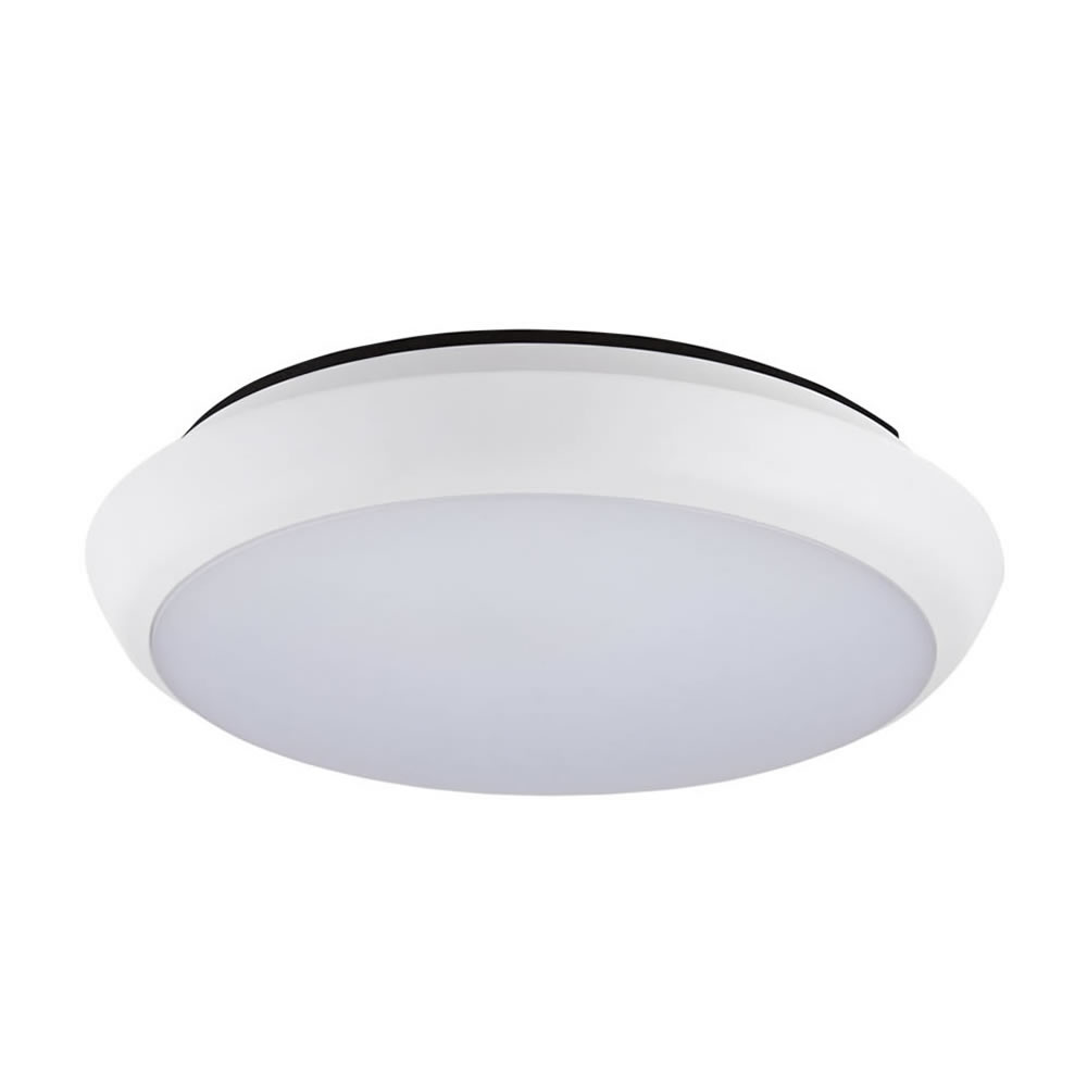 12W Plafondlamp - Ø200 x 48Mm - Koel & Warm Wit - IP54