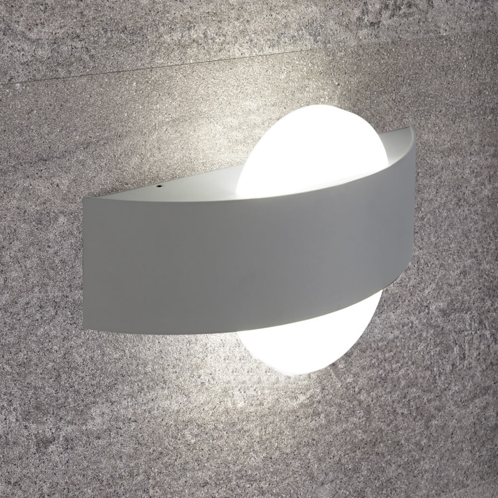 Biard Aqua Halfronde Wandlamp Wit 11W SMD LED