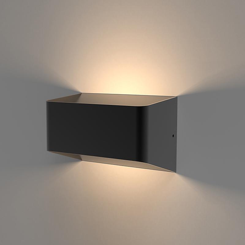 Orta 10W LED Wandlamp Buiten Aluminium Zwart/Wit IP54
