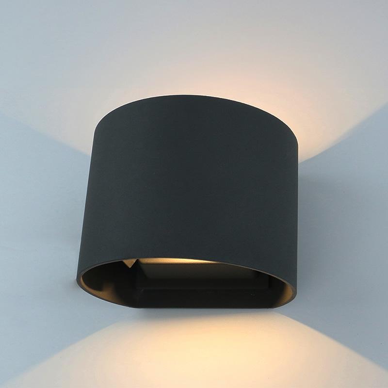 Prism IP54 Led Buiten Wandlamp Instelbaar Zwart