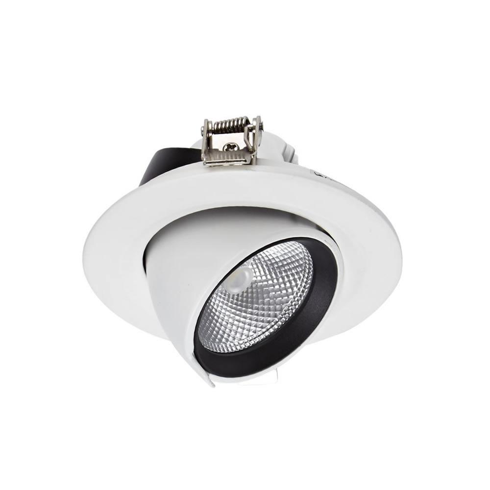 10W Dimbare & Kantelbare Cob Led Inbouwspot Incl Lamp & Driver - Wit