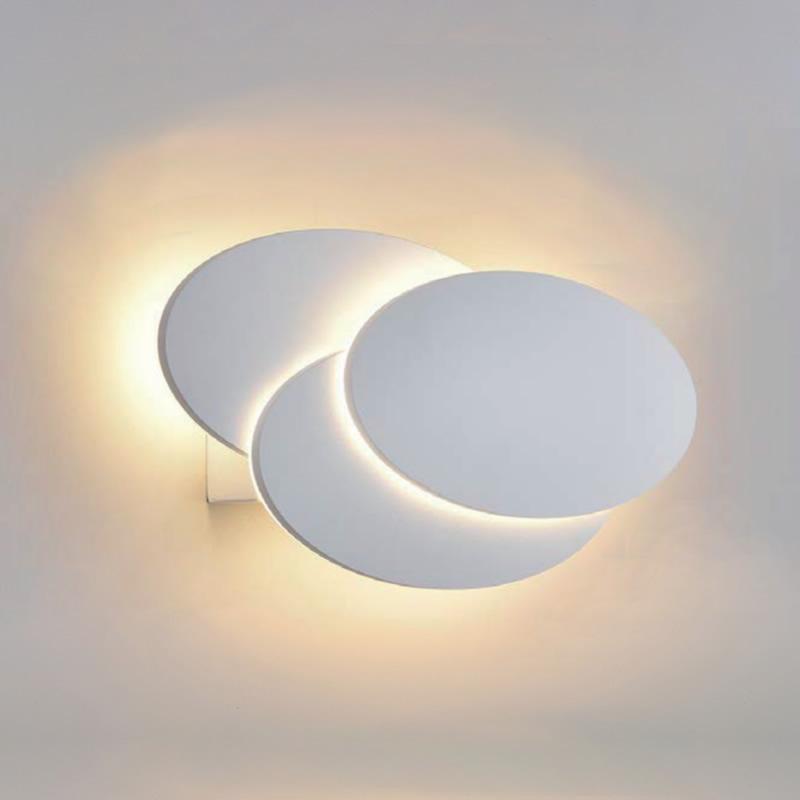 Piran Ronde Led Wandlamp Binnen – Wit