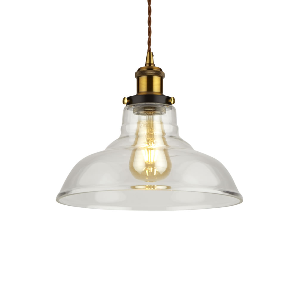 Biard Haga Hanglamp Glas Retro E27 (keus uit 3 fitting kleuren)