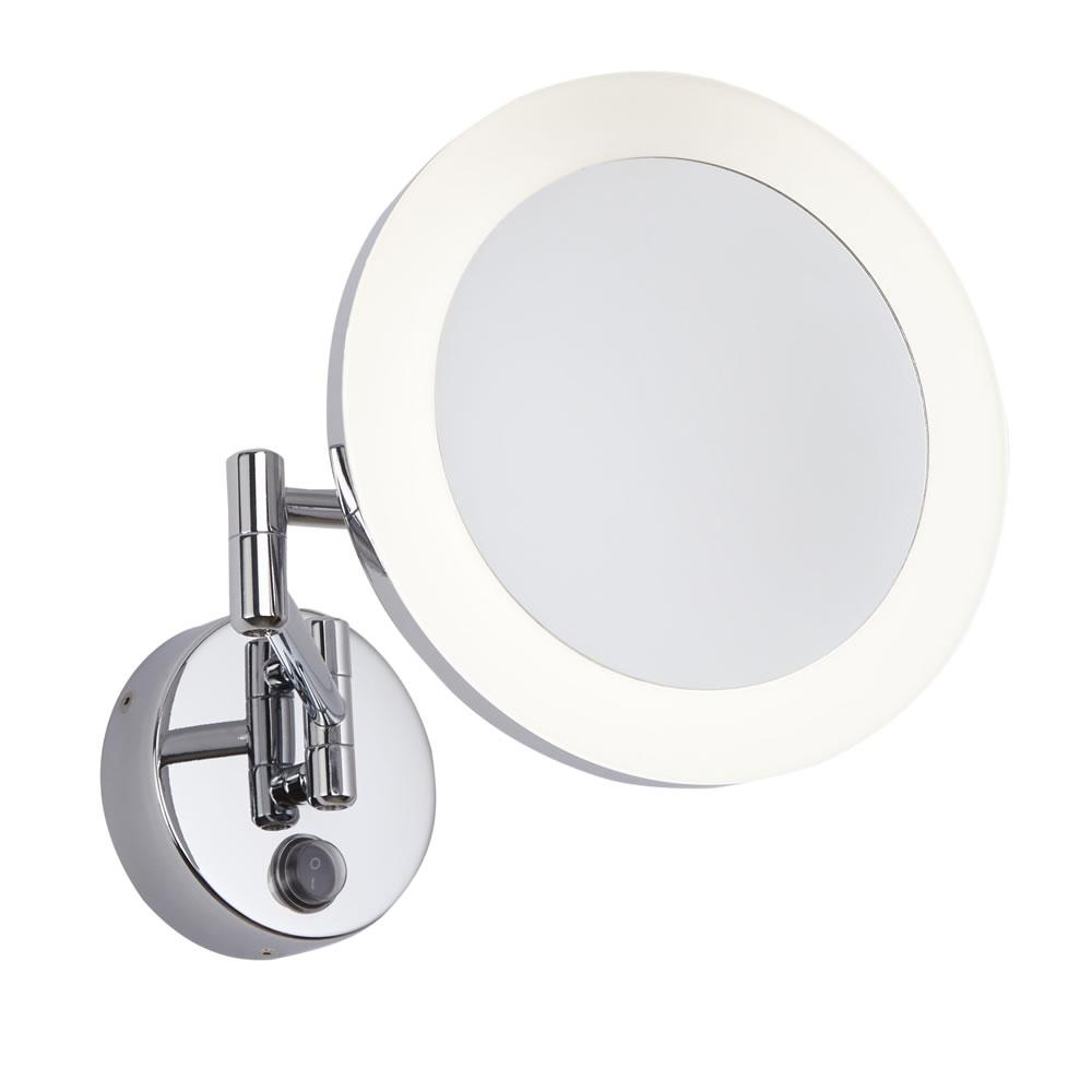 Monoun Scheerspiegel met LED Rond d. 20 x 38cm 3W Chroom LED IP44