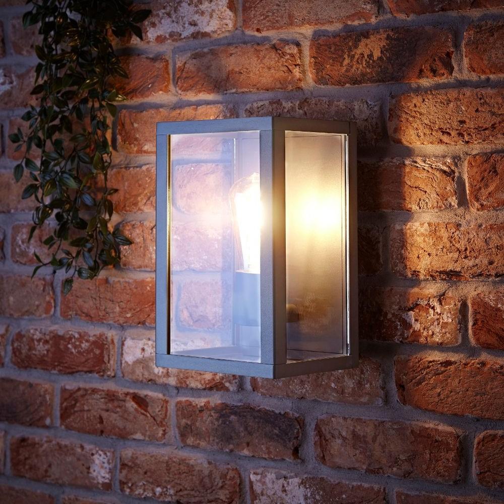 Bonn IP54 Wandlamp - Antraciet