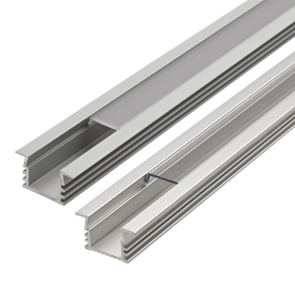 1 Meter Aluminium Inbouw Profiel Voor Led Stripverlichting - Doorzichtig Of Matt