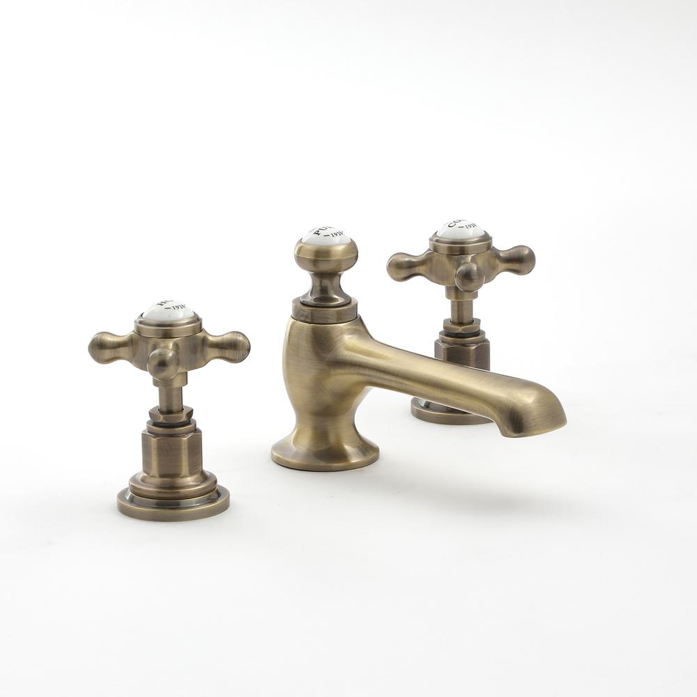 3-gats Wastafelmengkraan Klassiek Steel Handvat | Geborsteld Goud | Elizabeth