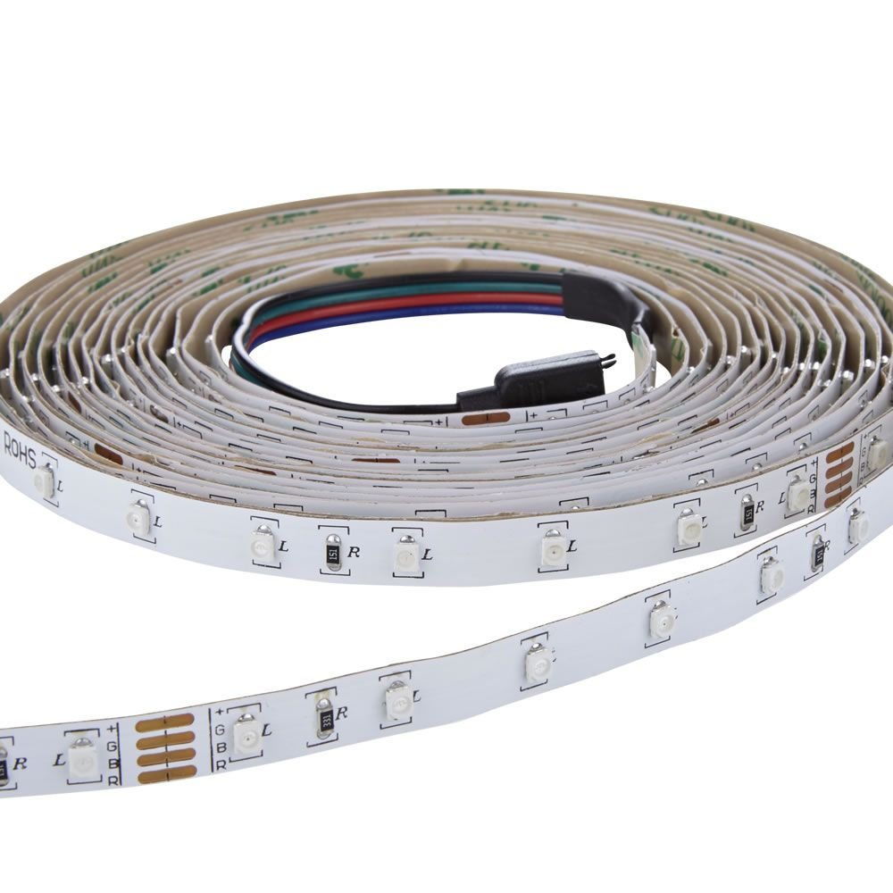 biard ip20 3528 rgb led strip verlichting incl driver ir controller kabel 5 meter