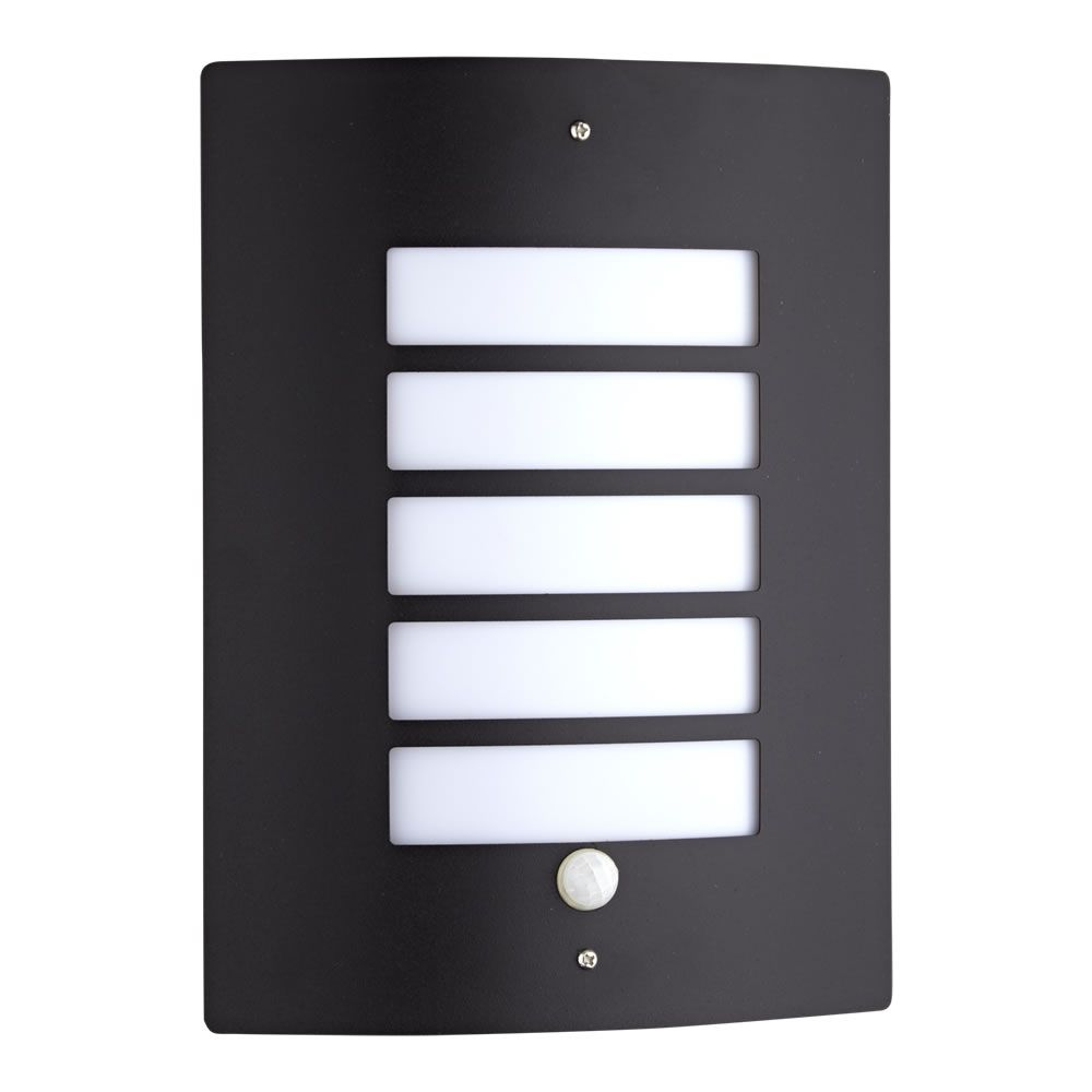 Buitenlamp Met Sensor Zwart.Orleans Rvs Buitenlamp Met Sensor Zwart