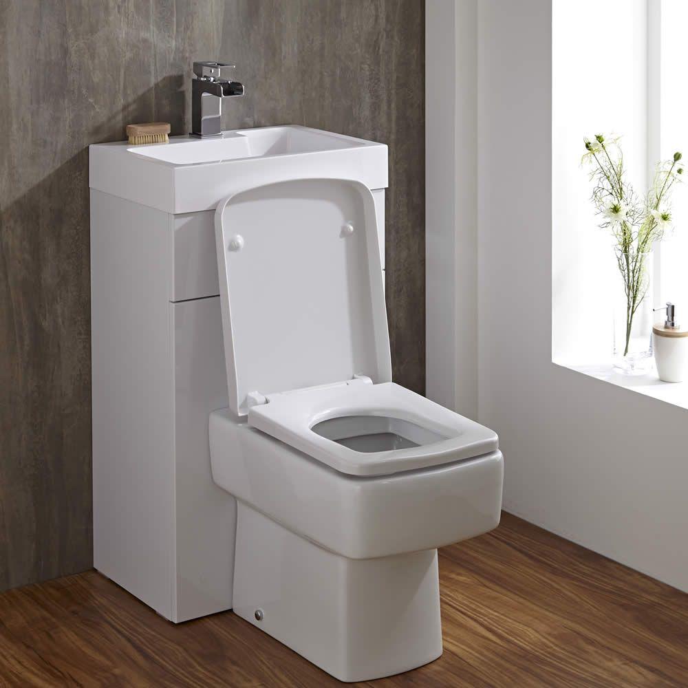 Vierkant Toilet Met Ingebouwde Wastafel 50cm X 86cm X 87 5cm