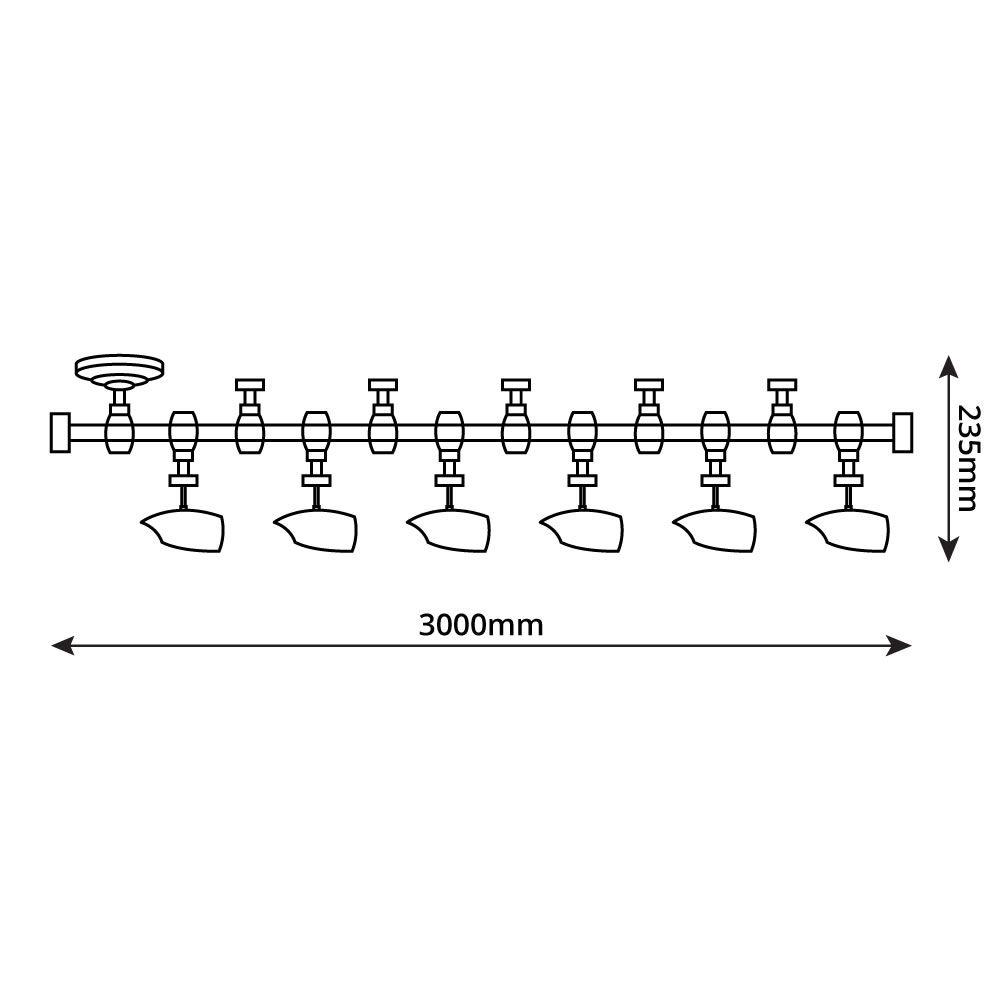 Forio 300cm Flexibele Railverlichting Set incl 5 Railspots GU10 IP20 ...