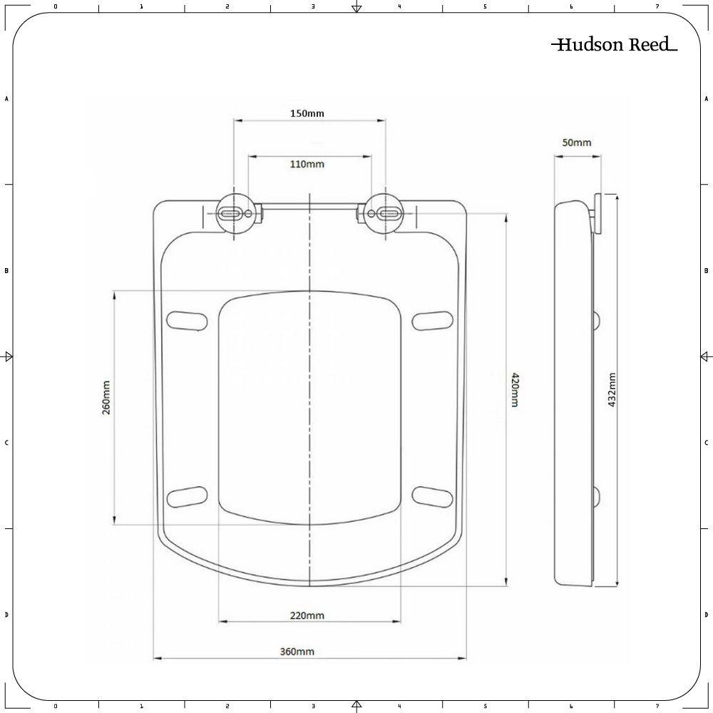 Fabulous Vierkante Softclose Toiletzitting GA08