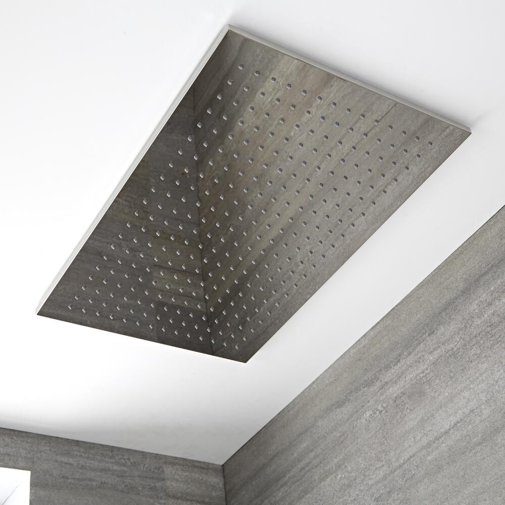 Beroemd Trenton Moderne Regendouche Plafond Messing Chroom 80cm x 50cm &JS97