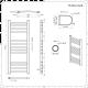 Handdoekradiator Elektrisch Gebogen Chroom 100 x 40cm   Eco
