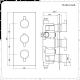 Nox 2 - weg Thermostatische Douchekraan & Vierkante Douchekop 30x30cm & Handdouche Combinatie Zwart