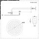 Aldwick 3-weg Thermostatische Douchekraan met Omstel & Douchekop d.20cm &  Glijstang Set & Zijdouches - Geborsteld Nikkel