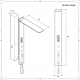 Narus 3-weg Digitaal Inbouw Thermostatisch Douchepaneel
