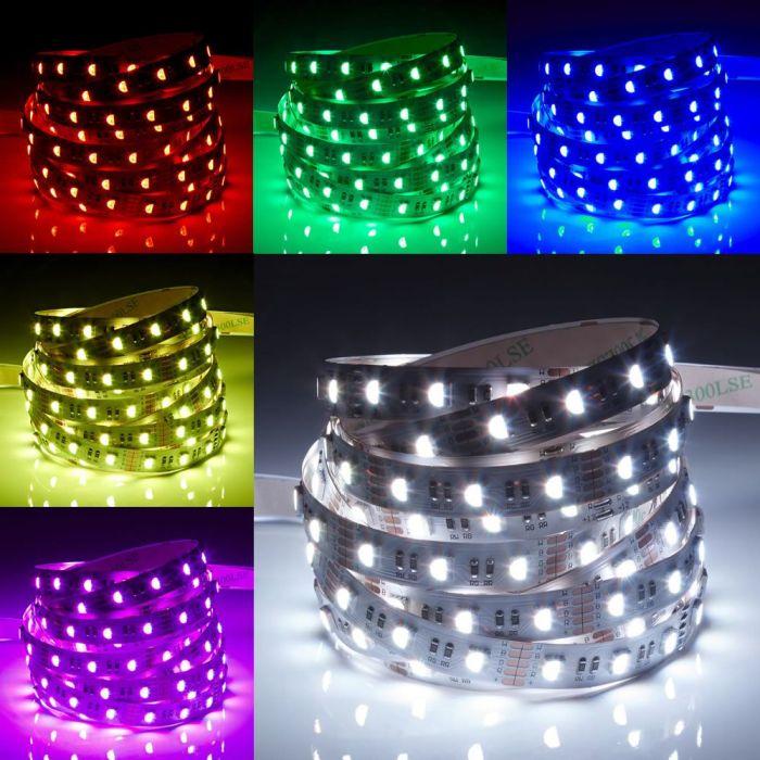 Biard IP20 - Extra fel RGBW - LED 5050 strip verlichting - 5 meter