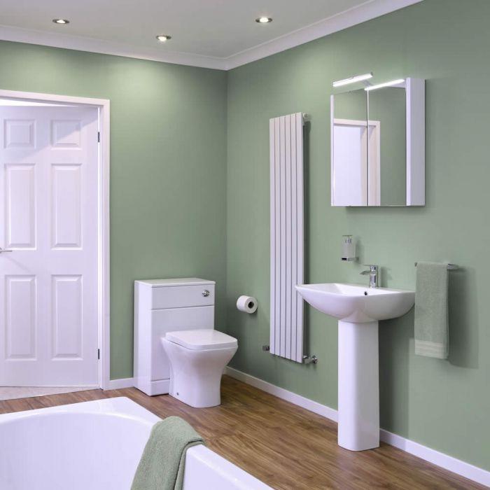 Minimalist Wastafel,Toilet & Badcombinatie