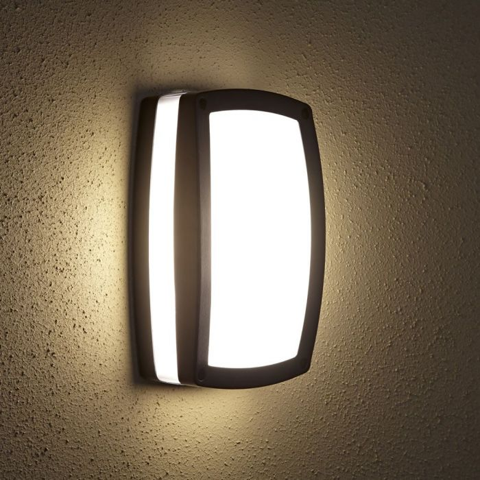 Architect Rechthoekige Zwarte Buitenlamp