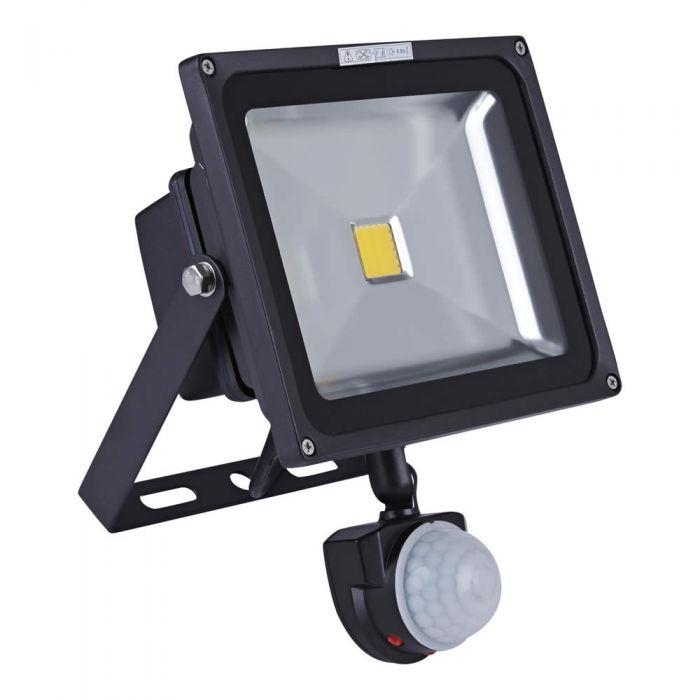 Biard COB Breedstraler 30W met PIR Sensor - IP65 - 22,5 x 18,5 x 13cm