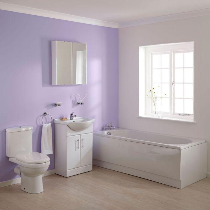 Wastafelmeubel, Toilet en Ligbad combinatie 170cm x 70cm