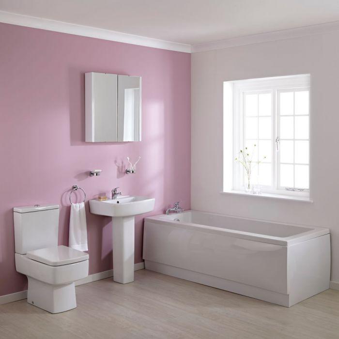 Wastafel, Toilet en Ligbad combinatie 170cm x 70cm