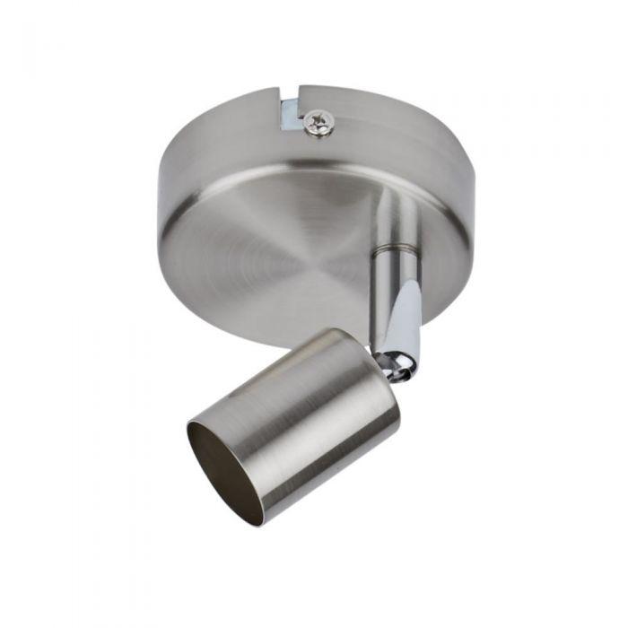 1 x GU10 Spotlight - Satijn Nikkel ( geschikt voor wand en plafond montage)