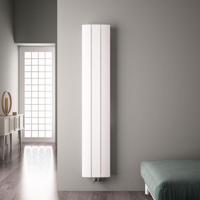 Aurora Designradiator Verticaal Middenaansluiting Aluminium Wit 180cm x 28cm x 4,5cm 1152 Watt