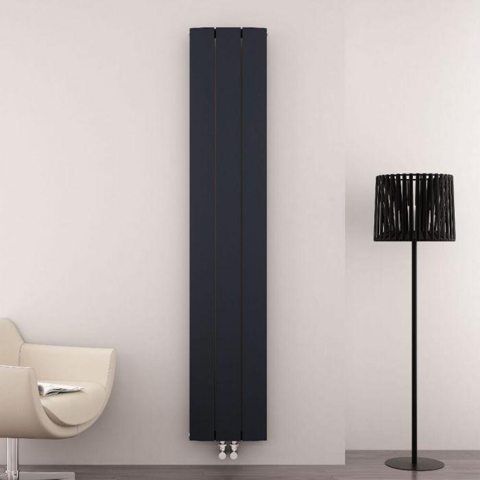 Aurora Designradiator Verticaal Middenaansluiting Aluminium Antraciet 180cm x 28cm x 4,5cm 1152 Watt