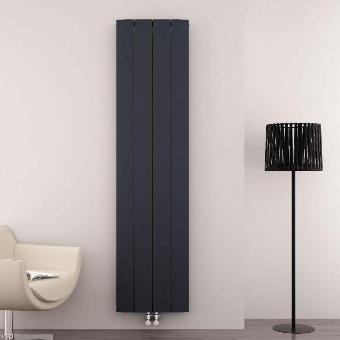 Aurora Designradiator Verticaal Middenaansluiting Aluminium Antraciet 180cm x 37,5cm x 4,5cm 1535 Watt