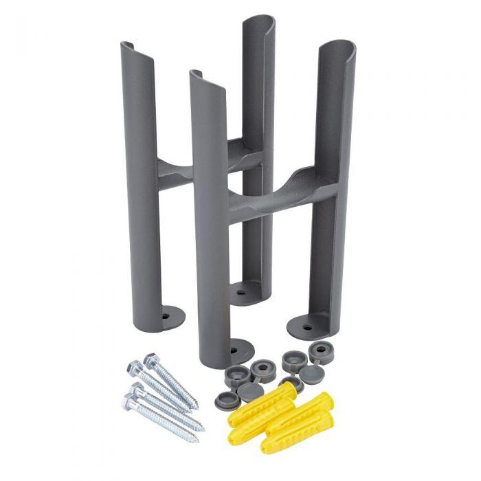 Radiatorpoten - Alleen geschikt voor de Klassieke 3-kolom radiator - Antraciet - 22,5cm x 13cm x 8cm