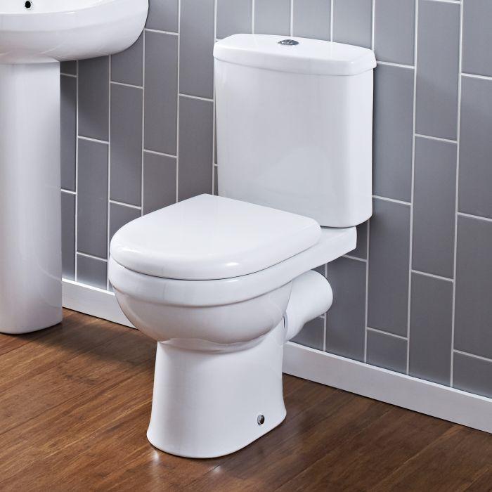 Duoblok Toilet Ivo Dual Flush met Reservoir en Toiletzitting Wit