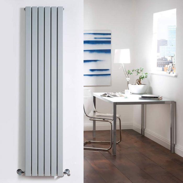Sloane Designradiator Verticaal Zilver 160cm x 35,4cm x 7,2cm 1193 Watt