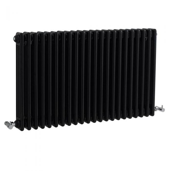 Windsor Designradiator Horizontaal Klassiek Zwart 60cm x 101,1cm x 10cm 2217 Watt