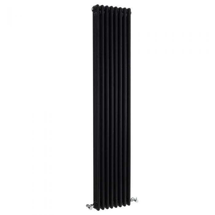 Windsor Designradiator Verticaal Klassiek Zwart 180cm x 38,1cm x 10cm 2411 Watt