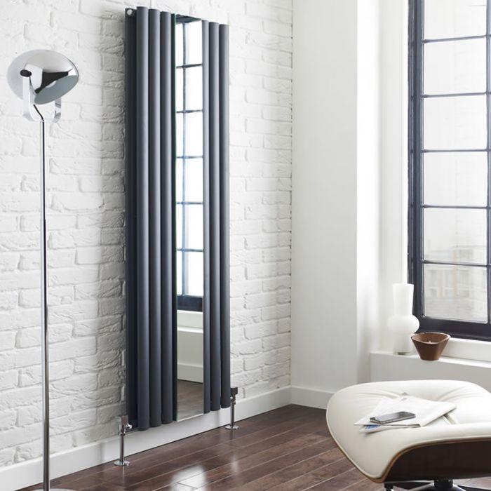 Revive Spiegel Designradiator Verticaal Antraciet 180cm x 49,9cm x 10,5cm 1613 Watt
