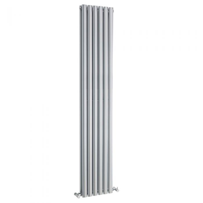 Revive Designradiator Verticaal Zilver 180cm x 35,4cm x 7,8cm 2200 Watt