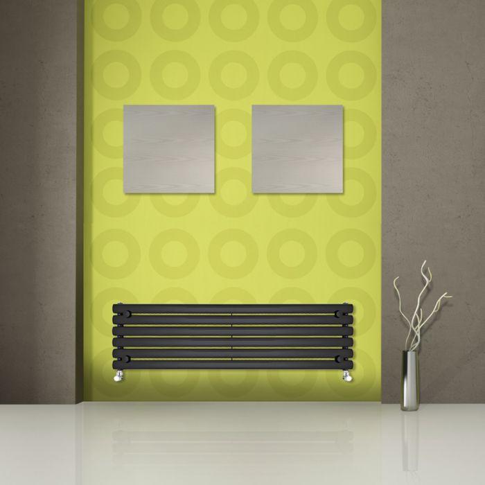 Revive Designradiator Horizontaal Zwart 35,4cm x 160cm x 5,6cm 815 Watt