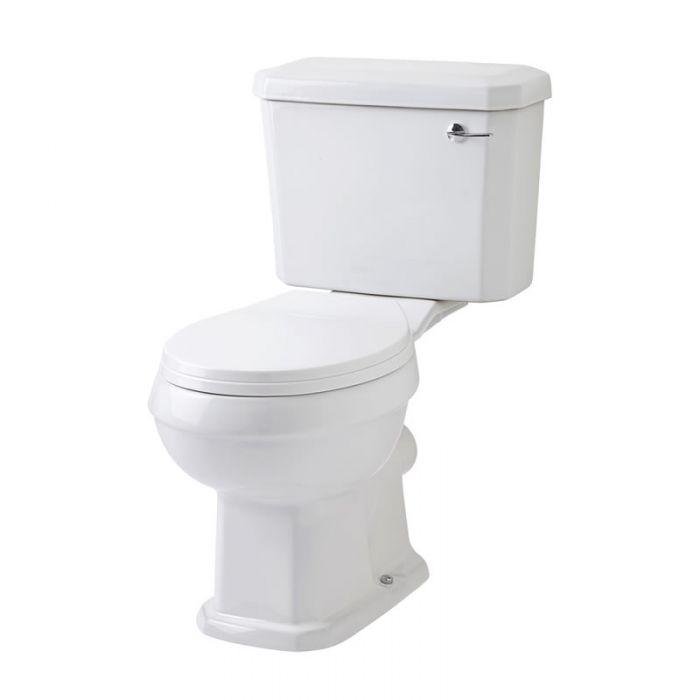 Toilet Traditioneel Keramisch Wit met Reservoir en Toiletzitting